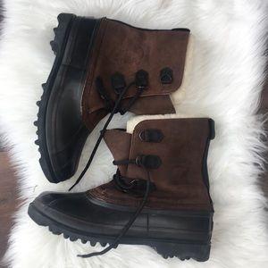 Other - Sorel Bighorn Kaufman leather waterproof boots 13
